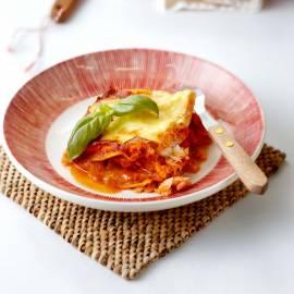 Lasagne met gerookte zalm en visfilet