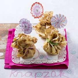 Pannenkoeken gehaktbuideltjes