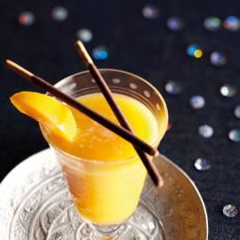 Perzik-amandelcooler
