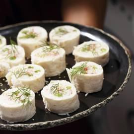 Rijstrolletjes met krabstick