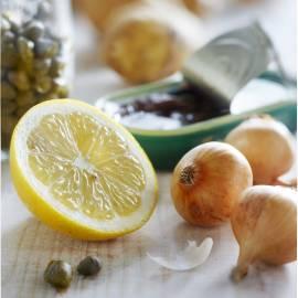 Aardappelsalade met zalm en kappertjesmayonaise