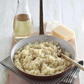 Risotto met witte wijn en kaas