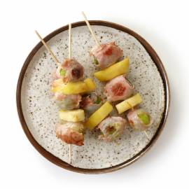 Spruitjesspiesjes met appel en bacon