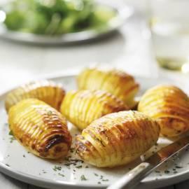 Hasselback aardappelen met warme specerijen