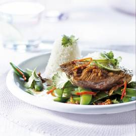 Varkensfilet met sugarsnaps