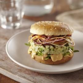 Visburgers met chunky burger saus
