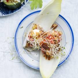 Witlof met peppadew en amandel