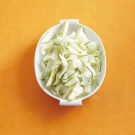 Witte salade met geitenkaas en kruidendressing