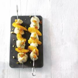 Witvisspies met sinaasappel, abrikozen en rozijnen