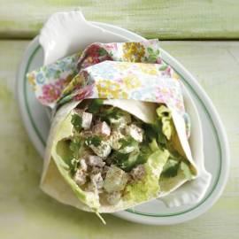 Wrap met ham en avocado