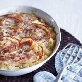Zuurkoollasagne met pancetta