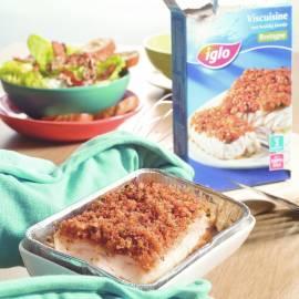Viscuisine met Bretonse notensalade