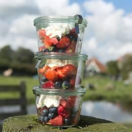 Fruitsalade met vanillemascarpone