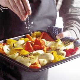 In de oven geroosterde groenten
