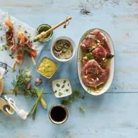 Fruitige kerriemarinade voor varkensvlees