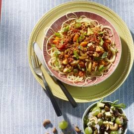 Pasta Bolognese met groene salade