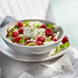 Fruitsalade met munt en pistache