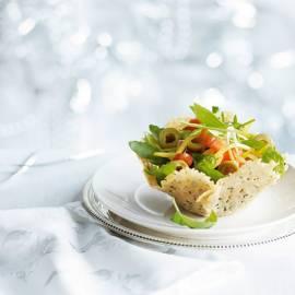 Kaasbakje met Italiaanse salade
