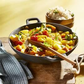 Pikante groentecurry met specerijen en ananas