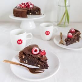 Brownietaartje met koffiefrosting