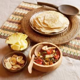 Afrikaanse injera pannenkoekjes