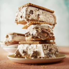 Chunky ice cream sandwich