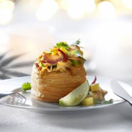 Thais groentepasteitje met mango
