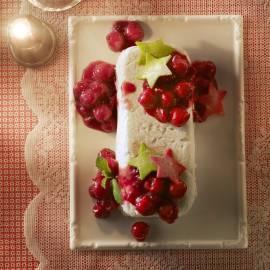 Rijstpudding met kersen en cranberry's
