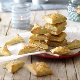 Zoute biscuits met sesam en oregano