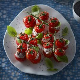 Tomaatjes met roomham