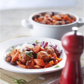 Chili met kidneybonen en gehaktballetjes