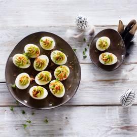 Bacon & avocado-eieren