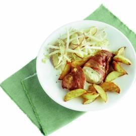 Kipfilet met kruidenkaas en rauwe ham