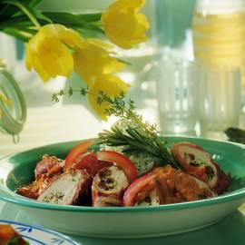 Kipfilets met pesto en zongedroogde tomaten
