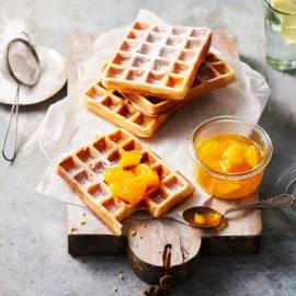 Wafels met sinaasappel en kardemom