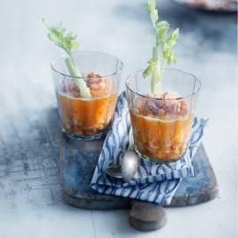 Meloengazpacho met Hollandse garnalen