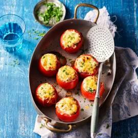 Tomaten met kruidenkwark uit de oven