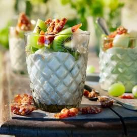 Fruitige kokosvla met hazelnotenpraliné