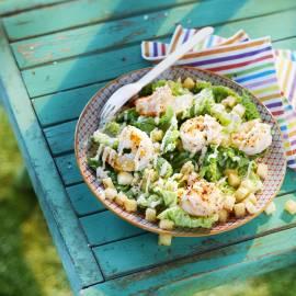 Caesarsalade met garnalen