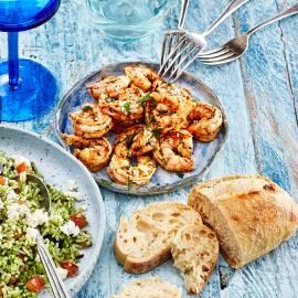 Knoflookgamba's met Griekse kruiden