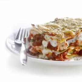 Lasagne met courgette en vis
