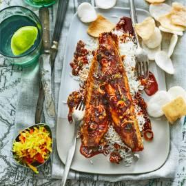 Makreel in sambal-ketjapsaus