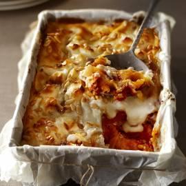 Lasagne met pompoen en geitenkaas