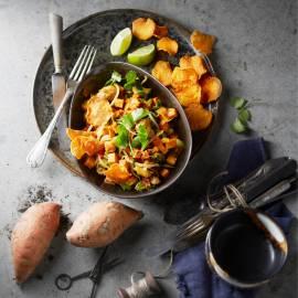 Zoete-aardappelcurry met kip