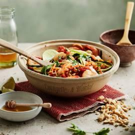 Pad thai van courgette en wortel