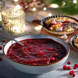 Cranberrysaus met port