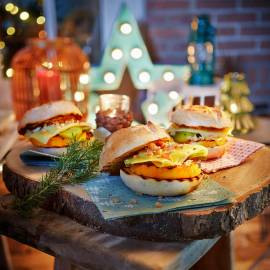 Pompoen-cheeseburgers