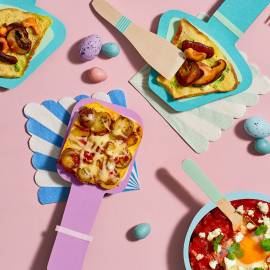 Krieltjes-tortilla met chorizo