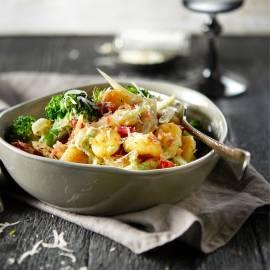 Gnocchi met broccoli, venkel en pancetta