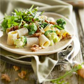 Rigatoni met broccoli en gorgonzola